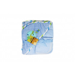 Carter's Baby Hooded Towel with Face Washcloth, Blue