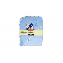 EBERRY Hooded Towel, Blue