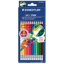 Staedtler Noris Club 144 Erasable Colored Pencils, Pack of 12