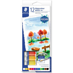 Staedtler Watercolor Paint Tube, Pack of 12