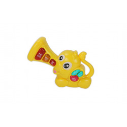 Elephant Music and Light Baby Toy, Yellow