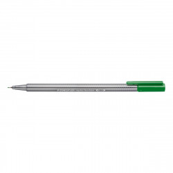 Staedtler Triplus Fineliner Marker Pen - 0.3 mm - Dark Green, Pack of 10 pens