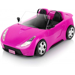 Super Joy Bright Magenta Convertible Doll Car