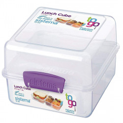 Sistema Lunch Cube To Go,1.4 Litre - Purple