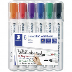 Staedtler Whiteboard Markers Chisel 6 Pack