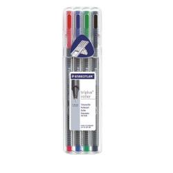 Staedtler Triplus Rollerball Pens Multicolor Pack of 4