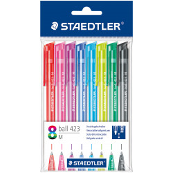 Staedtler Triangular Neon Ballpoint Pen, Pack of 8