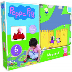 Peppa Pig Mega 6-Piece Floor Play Mat with Vehicle