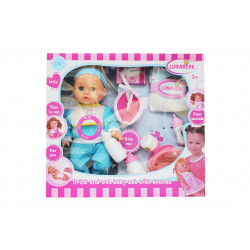 lunabebe Baby Doll with Accessories, Blue
