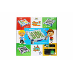 4 in 1 Game Set Snakes & Ladders, Draughts, Chess & Ludo Set