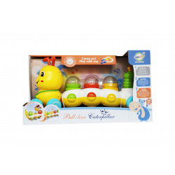 Pull Lime Caterpillar Toy Train, Yellow