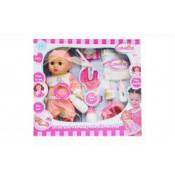lunabebe Baby Doll with Accessories, Pink