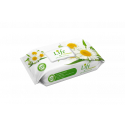 Life Wet Wipes 120 Sheets, Chamomile