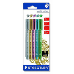 Staedtler Metallic Pen 1-2 mm, Pack of 5- Assorted Colors