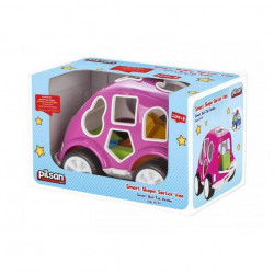Pilsan Smart Shape Sorting Car, Pink