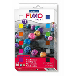 Staedtler Fimo Soft Oven Hardening Modelling Clay 25 g - Assorted Colours, Pack of 12