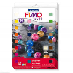 Staedtler Fimo Soft Oven Hardening Modelling Clay 25 g - Assorted Colours, Pack of 24