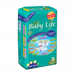 Baby Life Diapers Size 3, 4-9 kg ,48 Diapers
