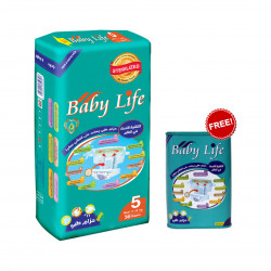 Baby Life Maxi Diapers Size 5, 11-18 kg ,36 Diapers