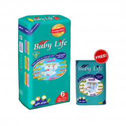Baby Life Maxi Diapers Size 6, +18 kg ,32 Diapers