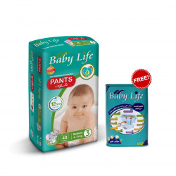 Baby Life Pants Size 3, 4-9 kg ,48 Diapers