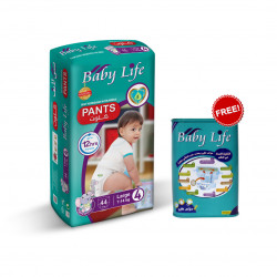 Baby Life Pants Size 4, 7-14 kg ,44 Diapers