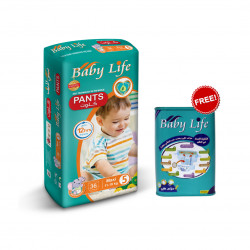 Baby Life Pants Size 5, 11-18 kg ,36 Diapers