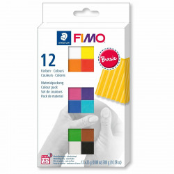 Staedtler Fimo Soft  Basic Set - Assorted Colours, Pack of 12