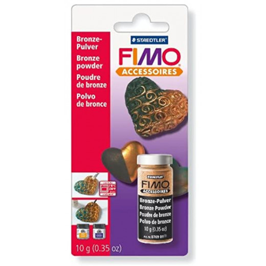 Staedtler Silver Fimo Powder For Clay 3 g, Gold