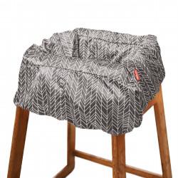 Skip Hop Take Cover Shopping Cart & High Chair Cover, Grey Feather