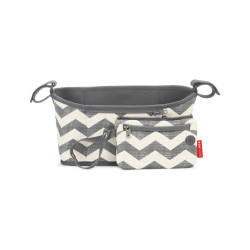 Skip Hop Universal Stroller Organizer: Insulated Beverage and Essentials Stroller Caddy, Chevron