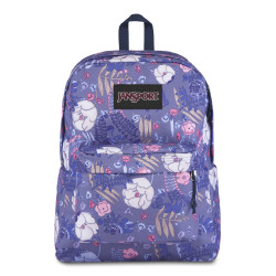 JanSport Black Label Superbreak Backpack, Blue Liana Vines
