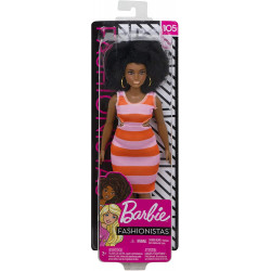Mattel Barbie Fashionistas Curny Doll With Black Hair