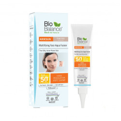 Bio Balance Aknsun Medium Tinted Mattifying aqua fusion SPF 50 Dry Touch ,40 ml
