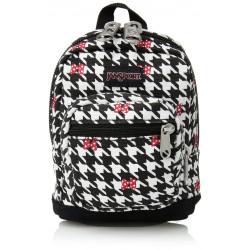 JanSport Disney Right Pouch Minnie White Houndstooth
