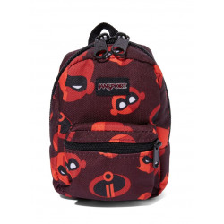 JanSport Incredibles Lil Break Zipper Backpack, Incredibles Family Icons Red 0.5 L