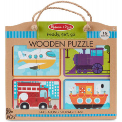 Melissa & Doug Natural Play Wooden Puzzle: Ready To Go Set