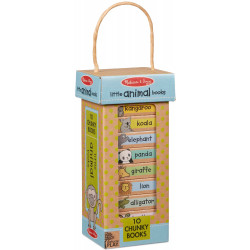 Melissa & Doug Natural Play Book Tower: Little Animal Books