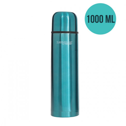 ThermoCafé by Thermos Stainless Steel Flask, 1000ml, Turquoise