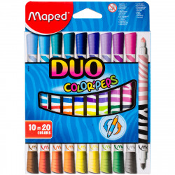 Maped Color'peps Duo Double Ended Felt Tip Pens 10-Piece
