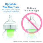 Dr Brown's Level 1 Wide-Neck Silicone Options+ Teat 2-Pack