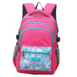 Faber-Castell School Bag 4 Compt Backpack, Rad& Turquise Unicorn