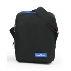 Faber Castell Insulated School Lunch Bag 2-Compartment, Black& Blue Zipper