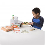 Melissa & Doug Top & Bake Pizza Counter - Wooden Play Food
