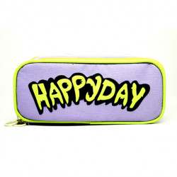 Happy Day Large Accessory Pouch, Purple