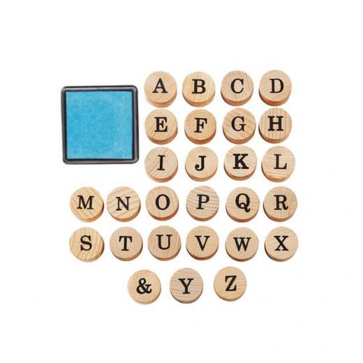 Crelando Stamp Set- Alphabet, 29 Piece