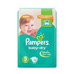 Pampers Pack Junior Size 5, 11-25 kg, 15 diapers