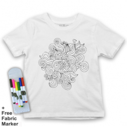 Mlabbas Palestine Kids Coloring Tshirt - 7-8 years