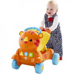 Fisher-Price Stride to Ride Tiger, Orange