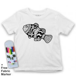 Mlabbas Fish Kids Coloring Tshirt - 12-13 years